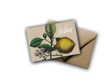 Lemon Hostess Thank You Cards