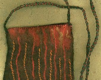 Pele - wet felted bag
