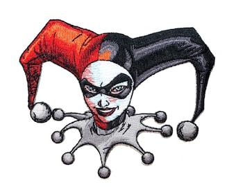 Harley Quinn Close-Up Batman Comics Asylum Joker DC Girl Iron-On Applique Patch