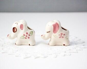 Mini Elephant Figurines for Nursery or Planter