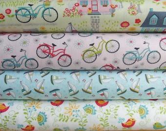 Sunday Ride by Cherry Guidry for Contempo Benartex - four fat quarter bundle