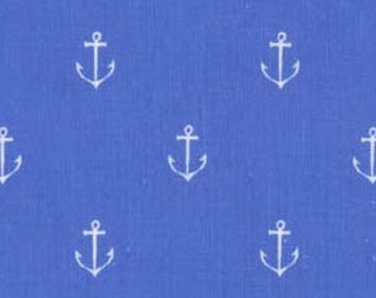 Blue Anchor Fabric
