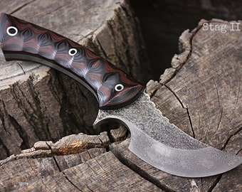 "Handmade knife FOF ""Stag II"" hunter/skinner and survival blade"