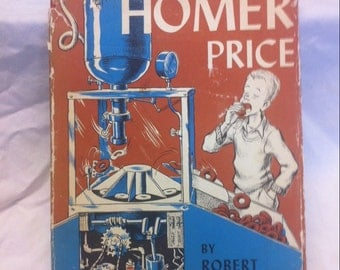 Robert McCloskey Homer Price First Edition 16th Printing 1964 VG HC Dust Jacket is fair - make Way for Ducklings Lentil