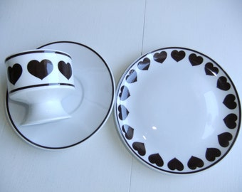 Vintage Set of three pieces of coffee/tea cup, saucer and small plate - Eschenbach Bavaria Germany - Perfect shape