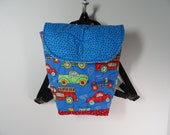 Toddler boys back pack, quilted backpack for preschool boys, tote for boys