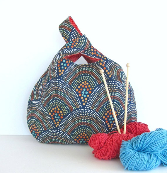 knitting tote bag large knitting project bag by ovationstudio