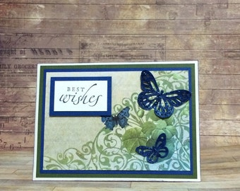 Best wishes card, Handmadecard, Greetingcard, All occasion, Butterfly