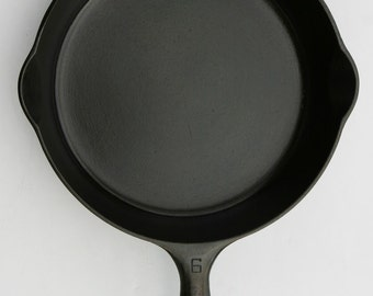 VINTAGE FINE GRISWOLD No. 6 Cast Iron Skillet Fry Pan Professionally Cleaned Seasoned Organically Using Only Food Grade Products