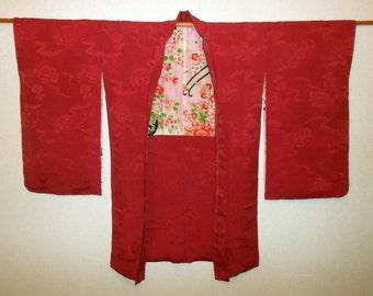 Antique haori - Rose and chrysanthemum