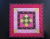 Nine-patch Medallion Design Miniature Doll Quilt *AnnMade* using antique fabrics