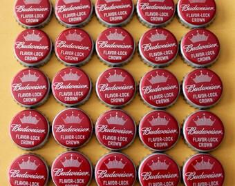 25 Budweiser Bottle Caps, Bottle Caps, Beer Bottle Caps, Bottle Tops