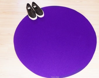 Circle floor mat. Round rug. Mat playroom for kids.
