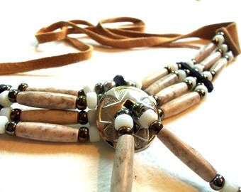 Authentic Native American Hairpipe Choker - Stone Hairpipe - For Him - Father's Day