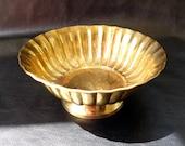 Brass pedestal bowl, vintage brass candy or fruit bowl