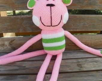 Crocheted Happy Monkey