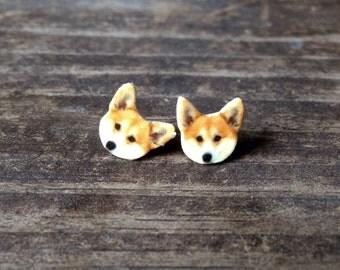 Corgi earrings jewelry dog small dog stud post canine