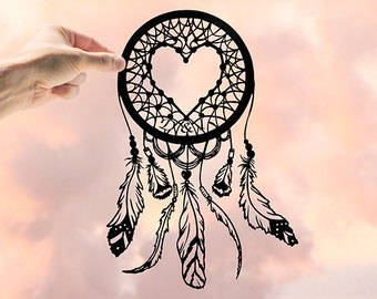 Dream Catcher, Custom Dream Catcher, Dream Catcher Decor, Heart Dreamcatcher, Large Dreamcatcher, Dream Catcher Wall, Personalized Wall Art