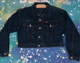 JEAN JER Black Denim Jacket Size S