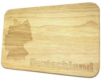 Bread Board Germany breakfast Board with engraving - breakfast board - engraving - Germany