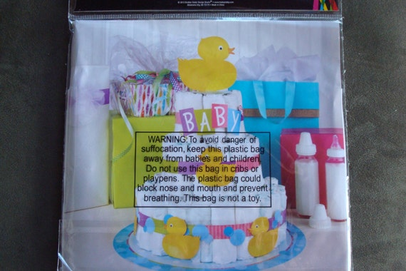 Diaper Cake Decorating Kit : Rubber Duckie Baby Shower Diaper Cake Kit Unisex Baby Shower