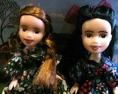 Anne of Green Gables and Diana Barry Friendship Pair, rescue makeunder+ repaint