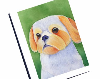 Shih Tzu Card Shih Tzu Art Watercolor Dog Card Blank Greeting Card Set With Envelope Blank Note Card Set Thank You Card Watercolor Cards