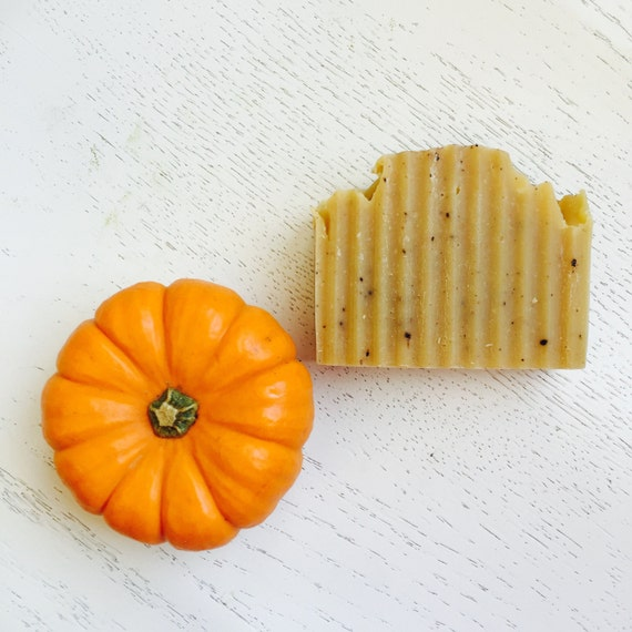 PUMPKIN ORANGE SPICE soap - Orange Pumpkin Spice Natural Handmade Soap - Natural Handmade Soap - Pumpkin Soap - Vegan Soap