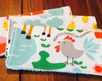 Farm Baby Washcloths {set of 3}