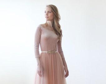 Pink velvet off-shoulder top , Long sleeves velvet blouse, Pink velvet blouse