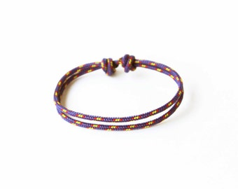 Simple Rope Bracelet - Purple