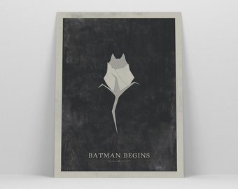 Batman Begins ~ Movie Poster, Batman Gift, Art Print by Christopher Conner