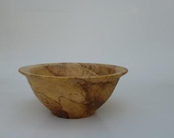 Hand turned wood bowl. Alder wooden bowl Handmade