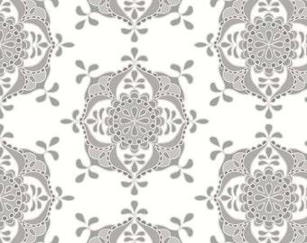 CLEARANCE Sale - 1 Yard - Riley Blake Designs Priscilla Gray Wallpaper Fabric SKU# C3364-GRAY