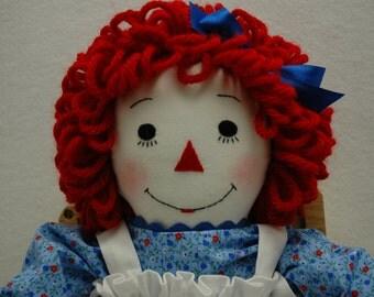 Raggedy Ann doll, 20 inch, handmade