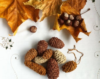 Pinecone Decorations / Fir Cone Ornaments / Twig Tree Decorations / Autumn Winter Christmas Decorations