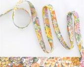 1 yard - Liberty of London Tana Lawn fabric, bias tape - print: Elysian W