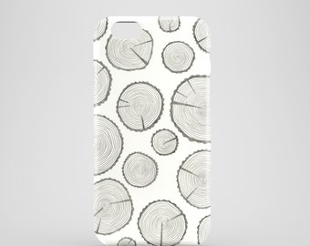 Tree trunks mobile phone case / iPhone 7, iPhone 7 Plus, iPhone SE, iPhone 6S, iPhone 6, iPhone 5S, iPhone 5 / illustrated forest phone case