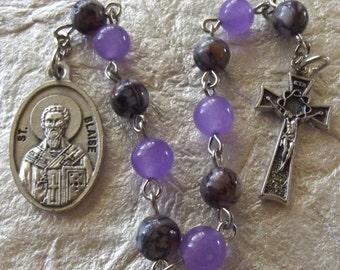 St. Blaise Purple Rosary Tenner