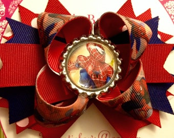 Spiderman Hair Bow