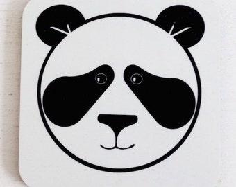 Mr Panda Coaster - Drinks Coaster - Animal Coaster