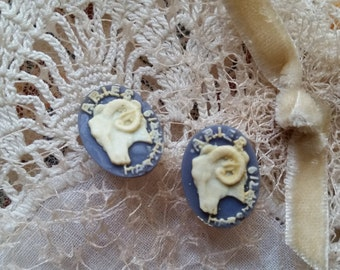 Real Vintage Aries Cameo Resin Cabochons