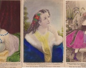 Set of Three Beautifully Colored Soule Filler Cards