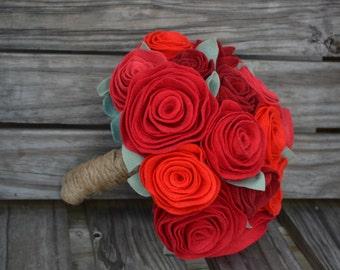 Felt Flower Bridal Bouquet - Custom / Made to Order