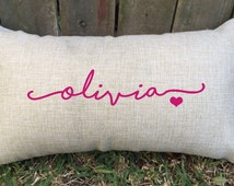 Sweetheart name pillow for her! Perfect gift for birthdays, teens, or special occasions to decorate their bedrooms in style. Suits any age!