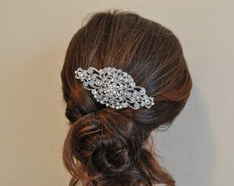 Rhinestone Wedding Hairpiece - Vintage Rhinestone Haircomb
