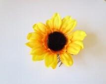 Flower bobby pins, white rose bobby pin,  wedding headpiece, hair accessories, flower girl-Fabric  Bohemian Hair Piece