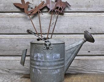 Handmade Metal Garden Decor Stakes