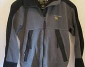 vintage, Mountain Hardwear 'gore' windstopper black gray fleece jacket made in USA mens M womens L