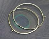 Brass Hoops Rustic Jewelry earrings n.168 - artisan handforged hoops . solid brass . raw brass hoops . round large hoops . hammered brass